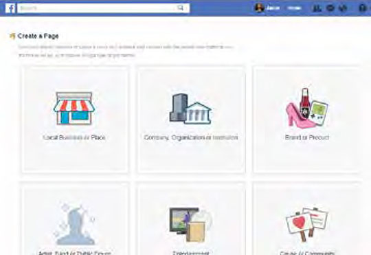 facebook link to create a business page